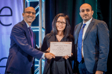Student receives an award