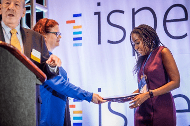 Dr. Irene Murimi,Worstell, alumni from the POP PhD program received the Emerging Leader Award. This award recognize ISPE members that have shown, early in their careers, the potential for leadership and have already made significant contributions to the Society